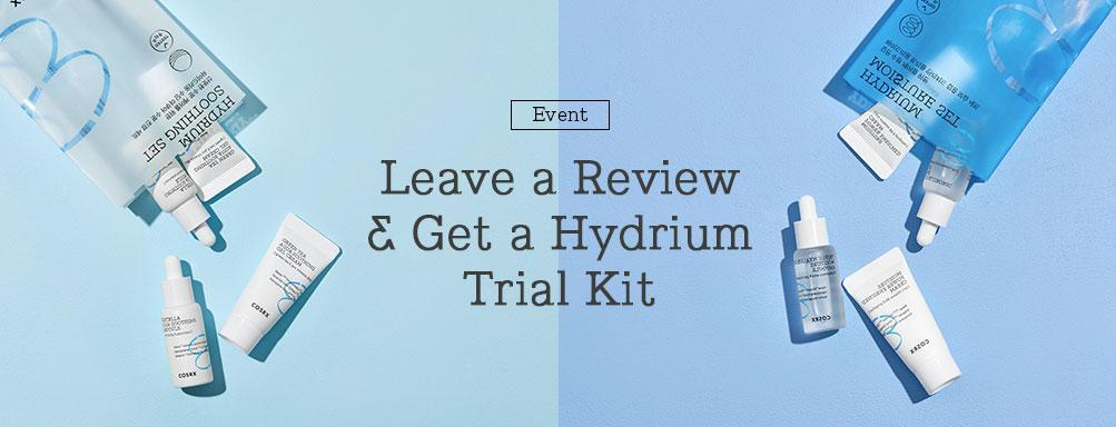 EVENT ! LEAVE A REVIEW & GET A HYDRIUM TRIAL KIT